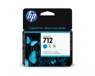 HP 712 Tinte cyan 29ml - 3ED67A
