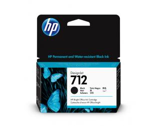 HP 712 Tinte schwarz 38ml - 3ED70A