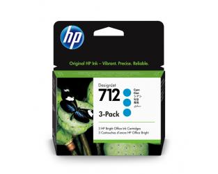 HP 712 Tinte cyan 3er Pack 29ml - 3ED77A