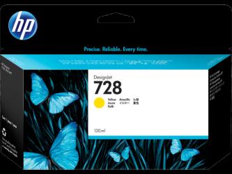 HP 728 Tinte gelb 130ml - F9J65A