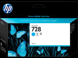 HP 728 Tinte cyan 130ml - F9J67A