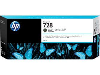 HP 728 Tinte matt schwarz 300ml - F9J68A
