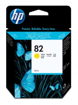 HP 82 Tinte gelb 28 ml