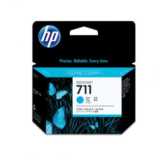 HP 711 Tinte cyan 3er Packung29 ml