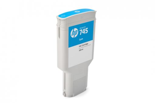 HP 745 Tinte cyan 300 ml