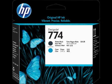 HP 774 Druckkopf mattschwarz - cyan  Designjet Z6610