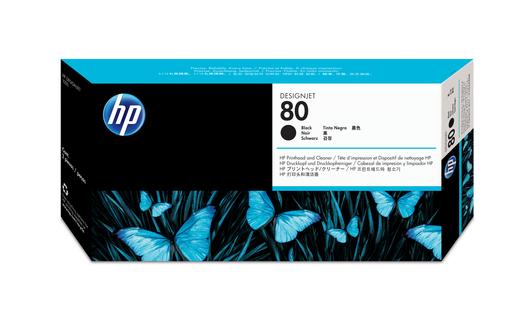 HP 80 Druckkopf +Reiniger schwarz