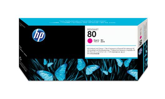 HP 80 Druckkopf +Reiniger magenta