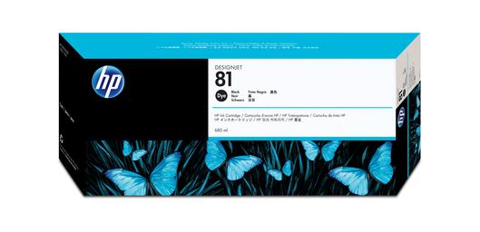 HP 81 Tinte schwarz 680ml