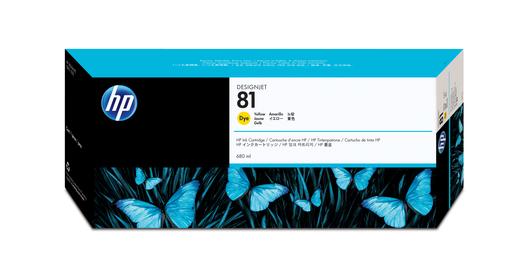 HP 81 Tinte gelb 680ml