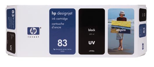 HP 83 Tinte schwarz UV 680ml