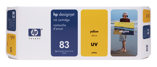 HP 83 Tinte gelb UV 680ml