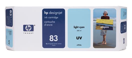 HP 83 Tinte light cyan UV 680ml