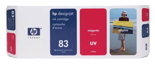 HP 83 Tinte light magenta UV 680ml