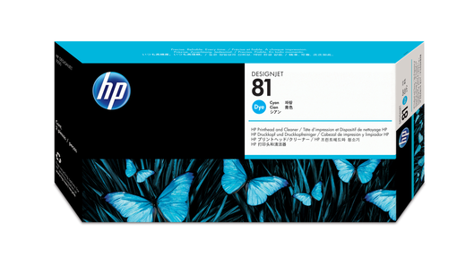 HP 81 Druckkopf+Reiniger cyan