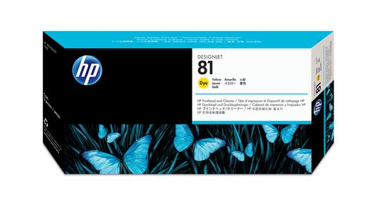 HP 81 Druckkopf+Reiniger gelb