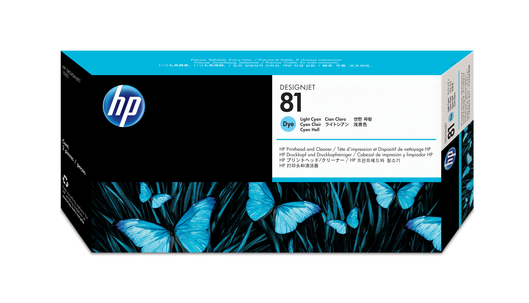 HP 81 Druckkopf+Reiniger lightcyan