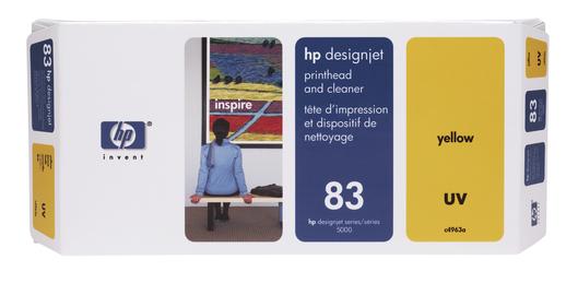 HP 83 UV Druckkopf Reiniger gelb