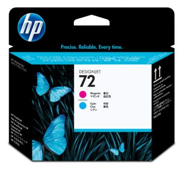 HP 72 Druckkopf magenta und cyan Vivera
