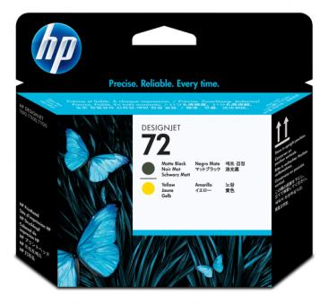 HP 72 Druckkopf schwarz matt und gelb Vivera