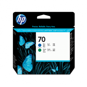 HP 70 Druckkopf blau/grün