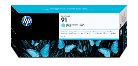 HP 91 Tinte cyan light Vivera775ml
