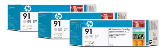 HP 91 Tinte 3-Pack grau lightVivera je 775ml