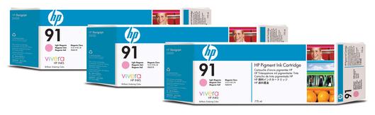 HP 91 Tinte 3-Pack magenta light Vivera je 775ml