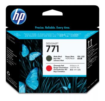 HP 771 Druckkopf matt schwarz+ rot Designjet