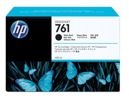 HP 761 Tinte matt schwarz 400ml