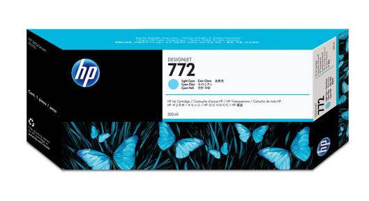 HP 772 Tinte cyan light 300ml