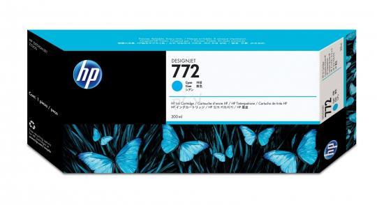 HP 772 Tinte cyan 300ml