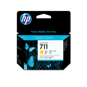 HP 711 Tinte gelb 3er Packung29 ml