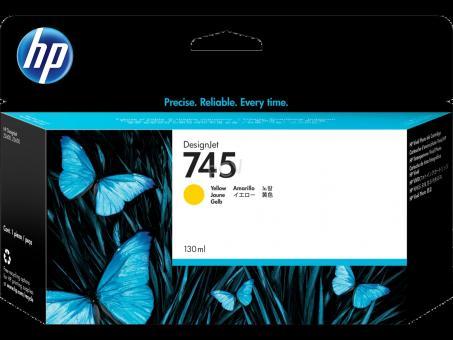 HP 745 Tinte gelb 130 ml