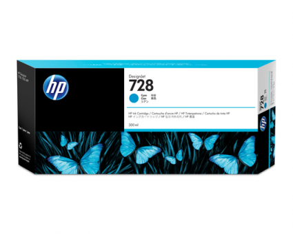 HP 728 Tinte cyan 300ml