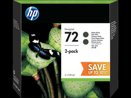 HP 72 Tinte 2er Paket,mattschwarz 130ml