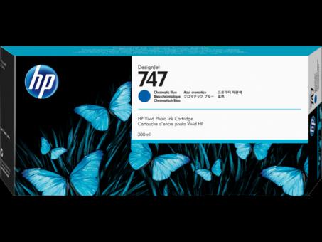 HP 747 Tinte chromatisch blau 300 ml