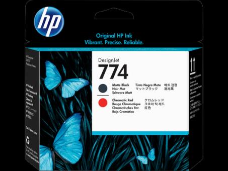 HP 774 Druckkopf matt schwarz+ chromatisch rot Designjet Z6810