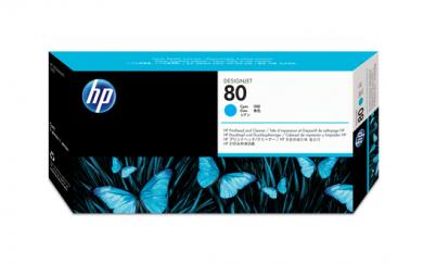 HP 80 Druckkopf +Reiniger cyan