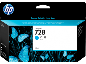 HP 728 Tinte cyan 130ml