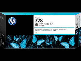 HP 728 Tinte matt schwarz 300ml