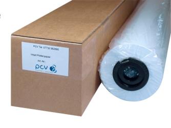 PCV Fotopapier  Baryt-glanz, 91,4cm x 15m, 310g